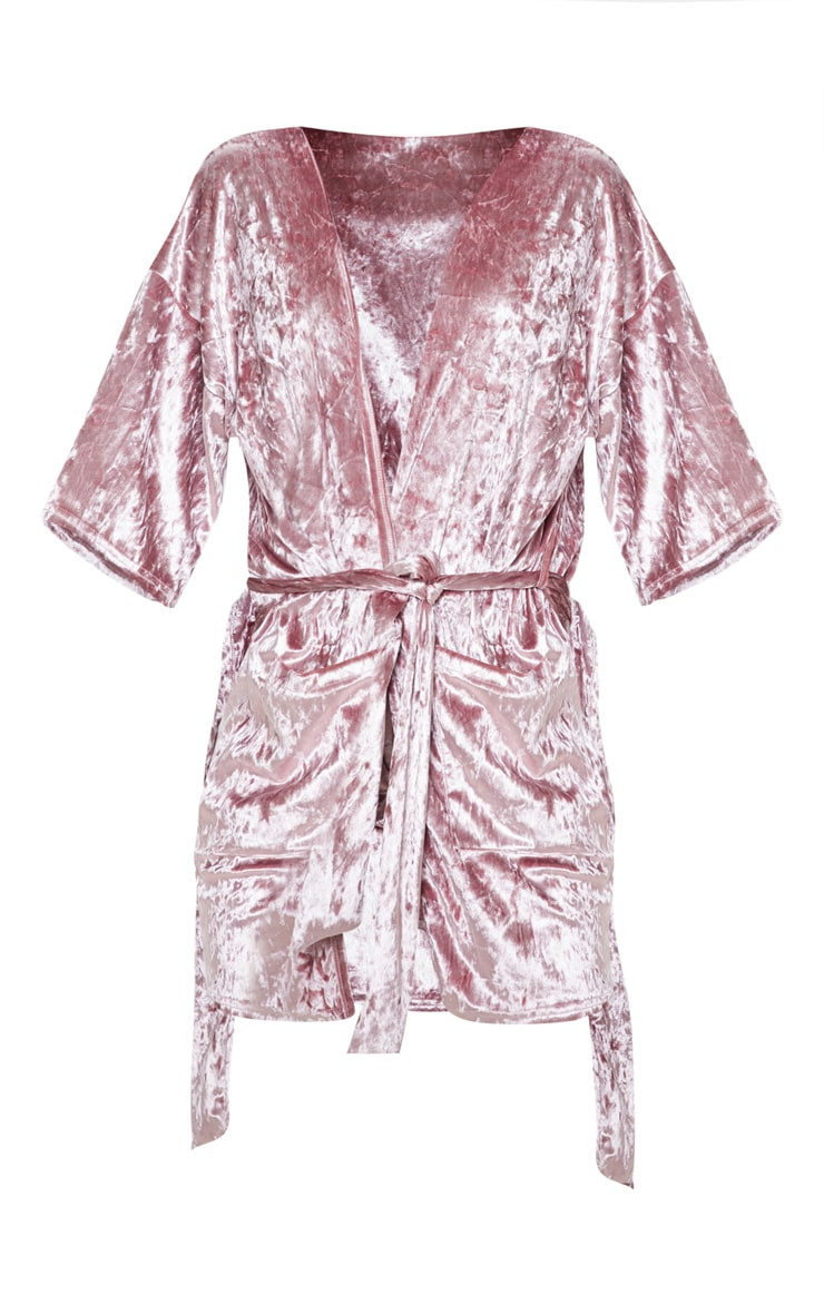 Pink Velvet Robe 3