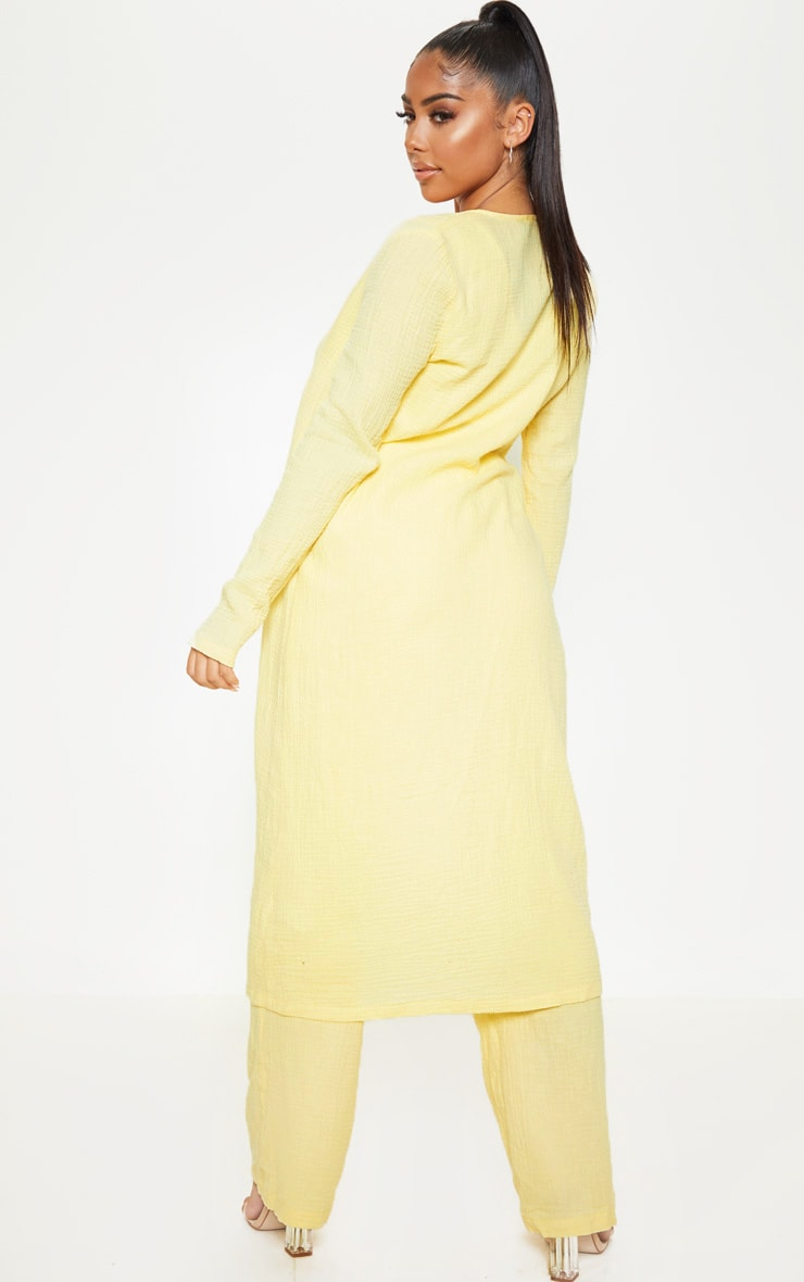 Petite Lemon Woven Longline Duster Jacket 2