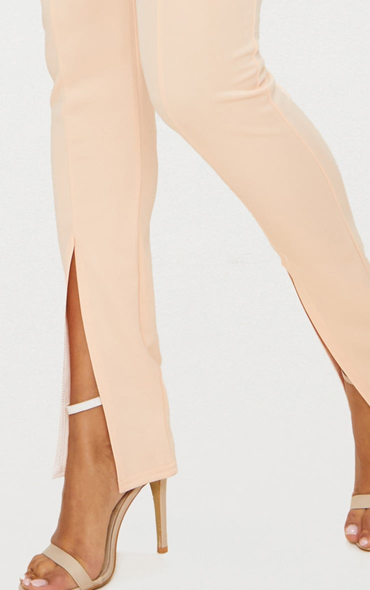 Nude High Waisted Split Hem Detail Trouser 5