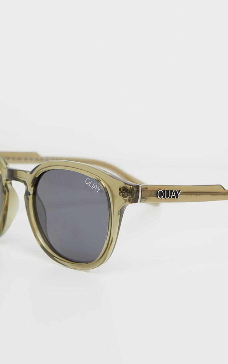 QUAY AUSTRALIA Olive Walk On Sunglasses 4