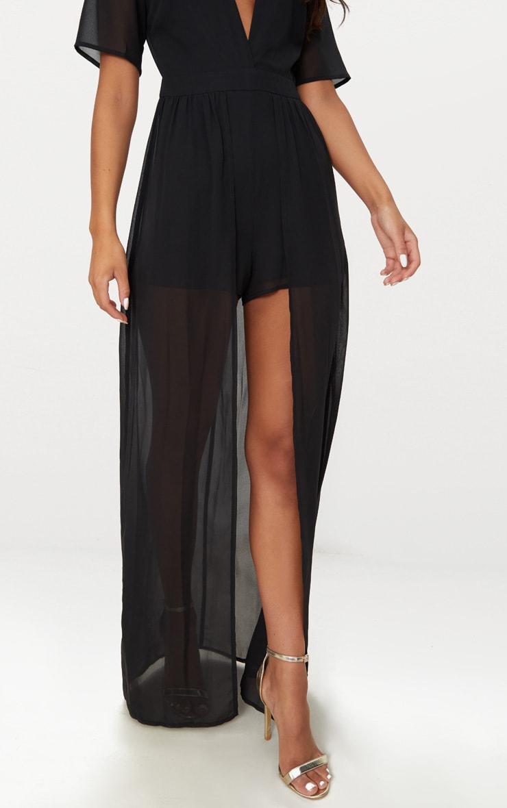 Black Maxi Overlay Playsuit 5
