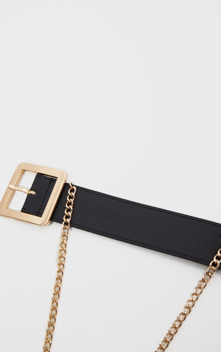 Black Belt With Gold Chain 4