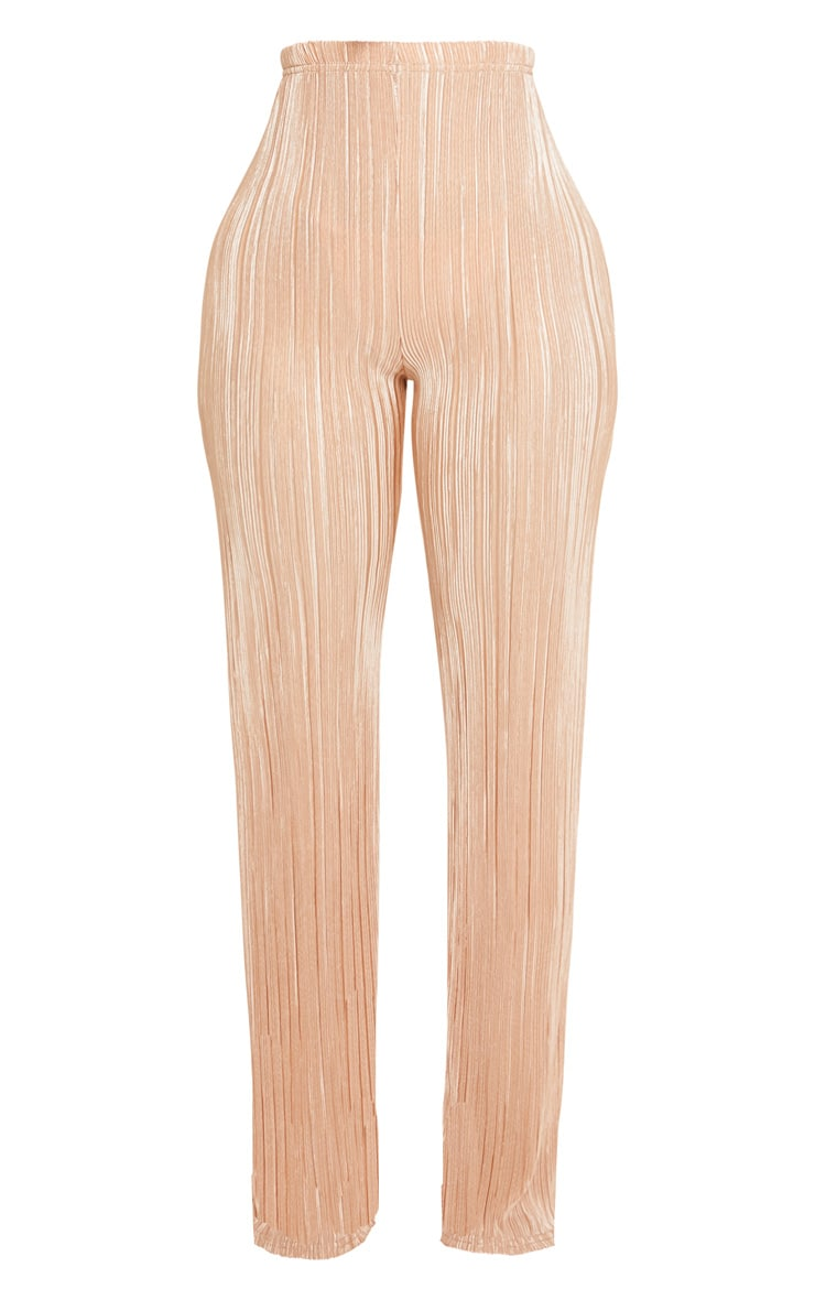 Shape Gold Pleated Metallic Wide Leg Trouser 3