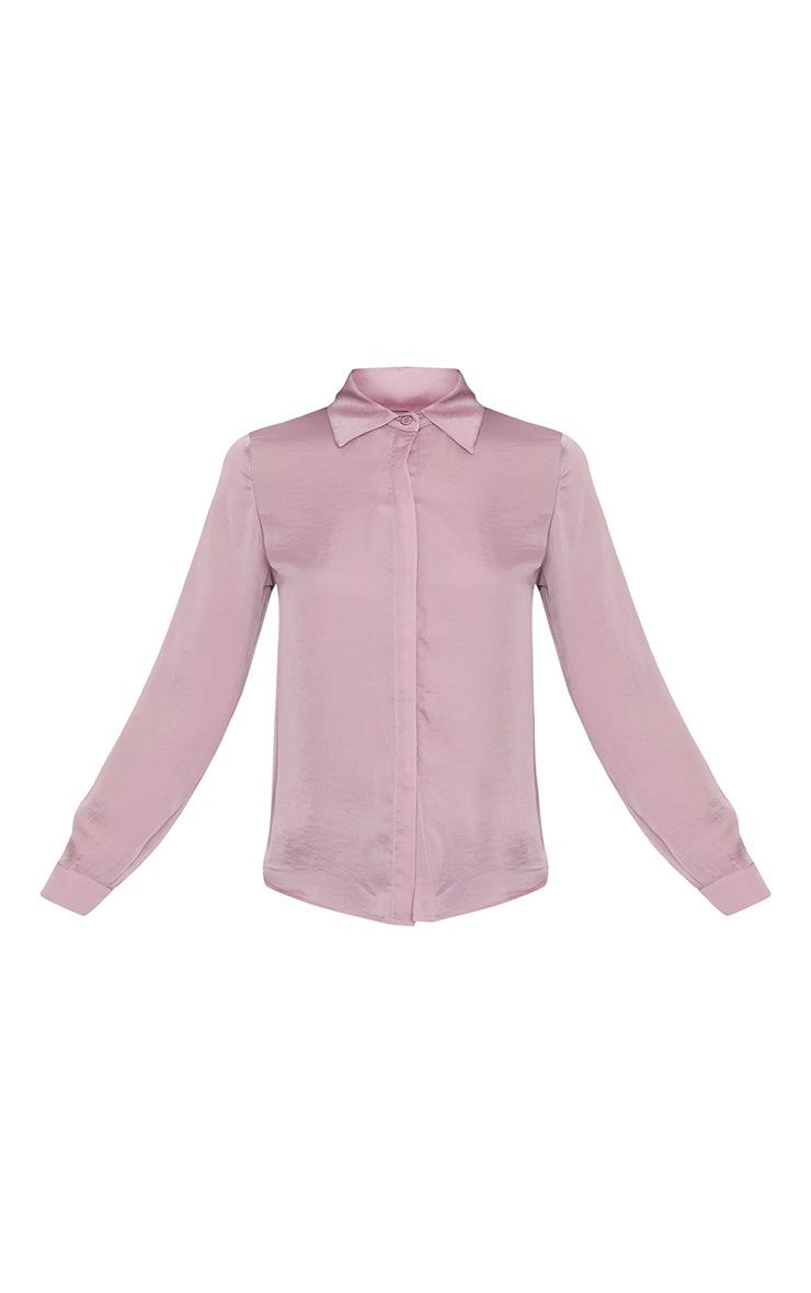 Lina Mauve Satin Shirt 3