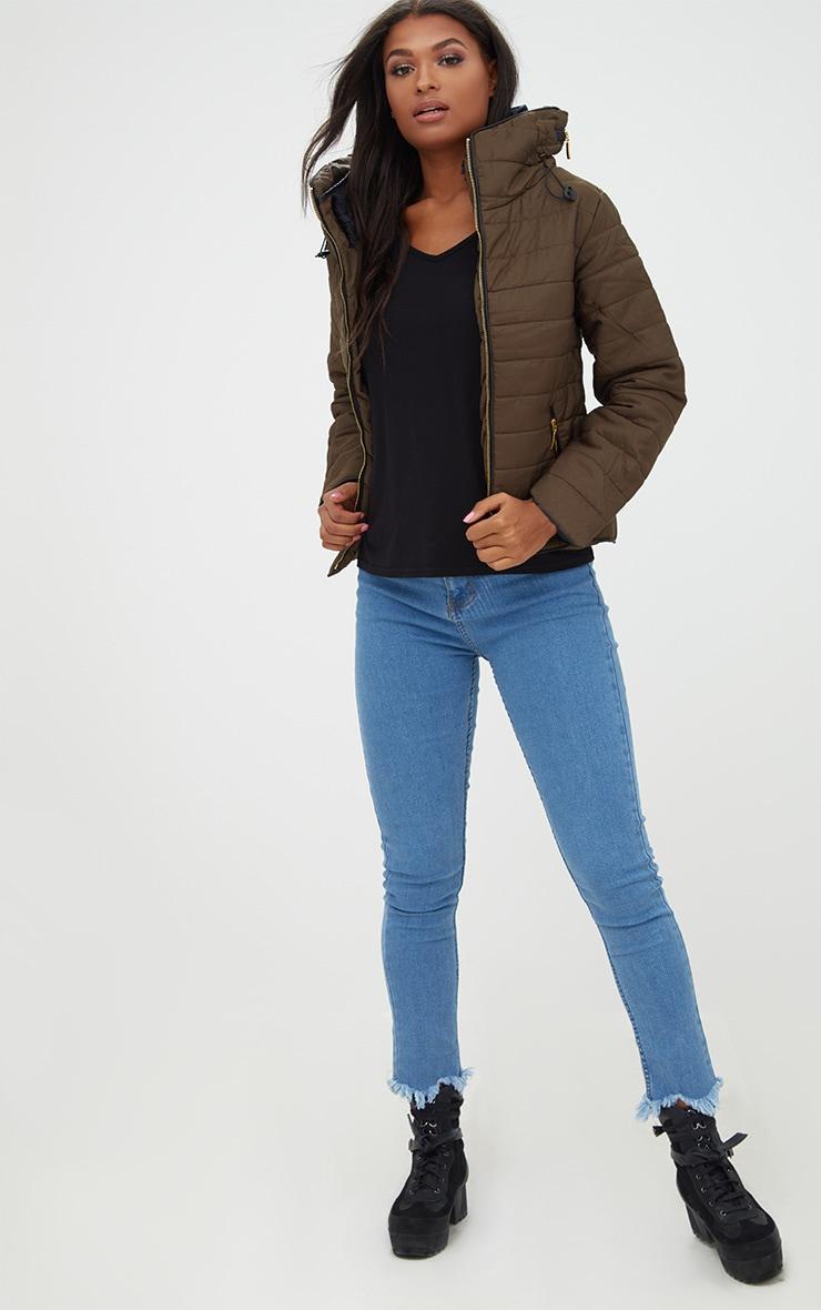 Mara Khaki Puffer Jacket 3
