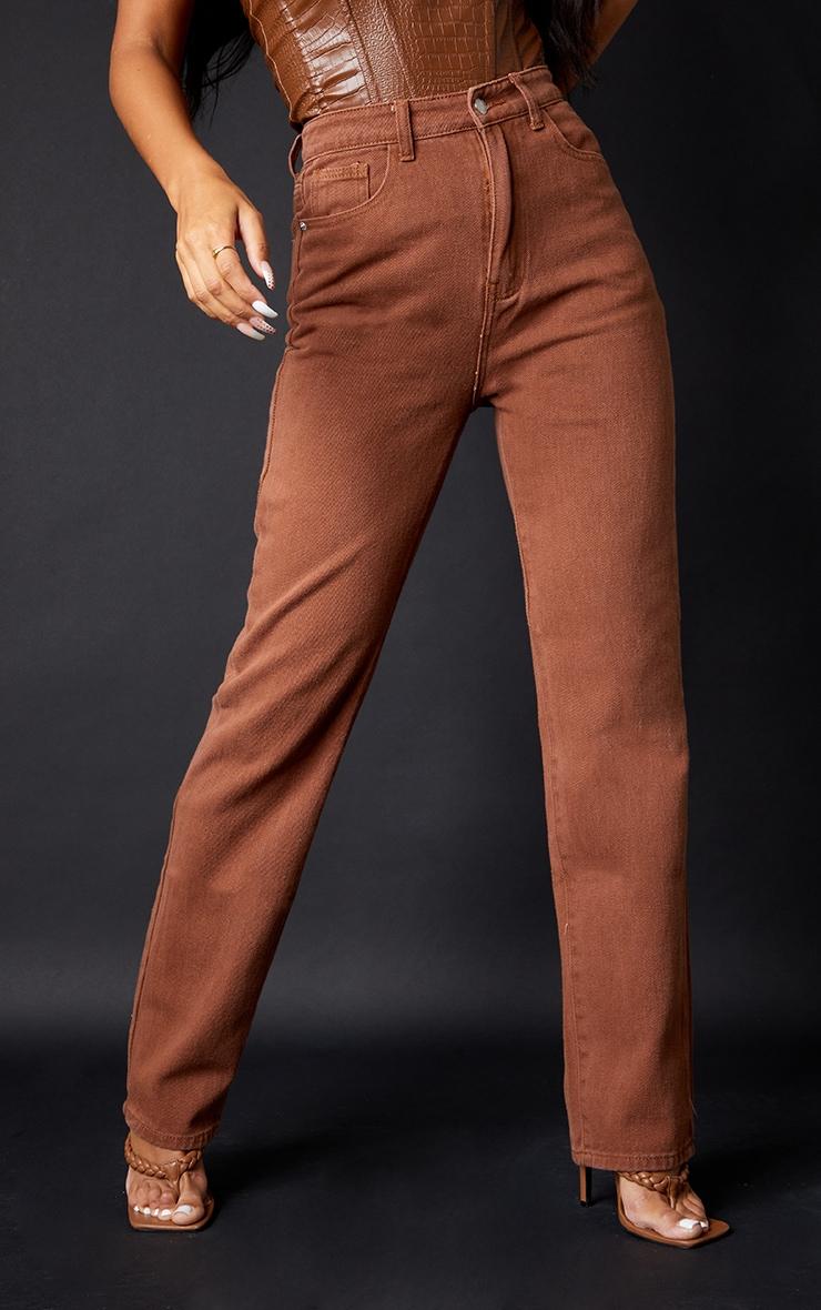 Chocolate Long Leg Straight Jeans 2