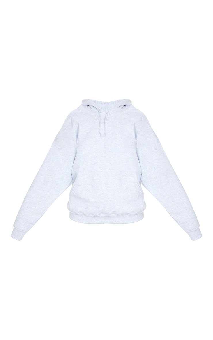 Recycled Ash Grey Oversized Sweat Hoodie 5