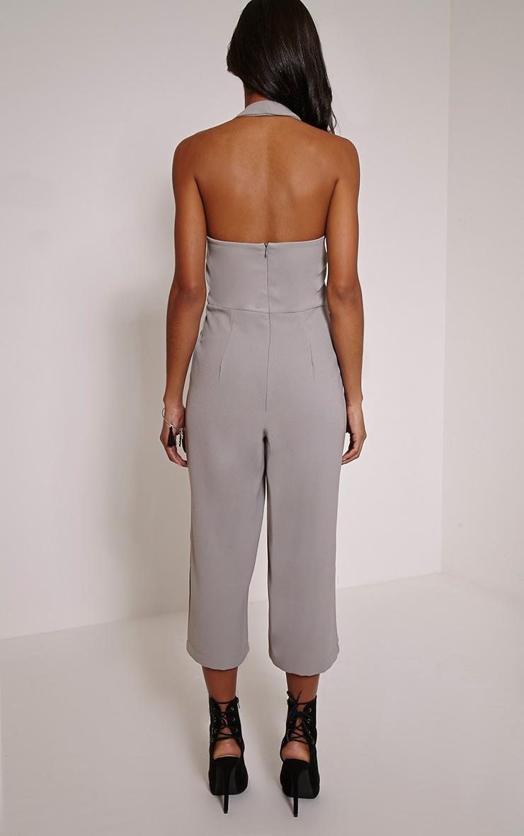 Rena Grey Strap Detail Culotte Jumpsuit 2