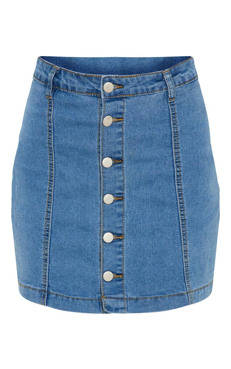 Cammie Mid Wash Denim Mini Skirt  3