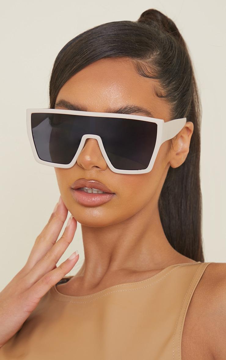 Stone Matte Oversized Square Frame Sunglasses 1