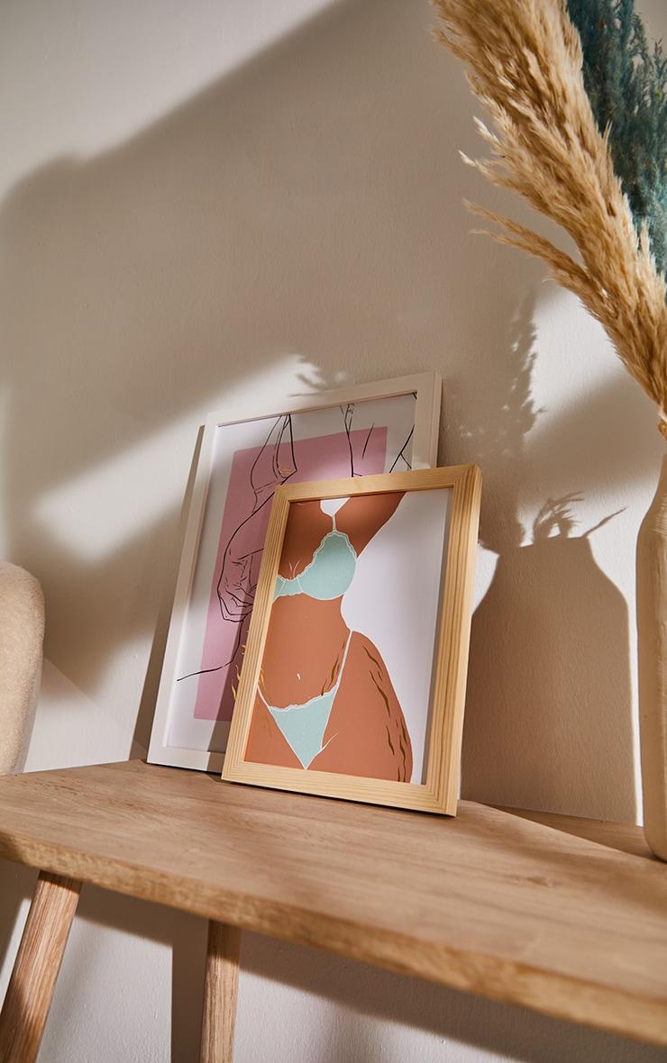 Female Curvy Body Gold Detail Stretch Marks A4 Print 1