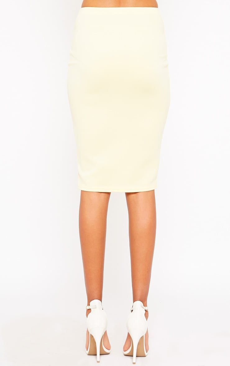 Winnie Lemon Scuba Midi Skirt 4