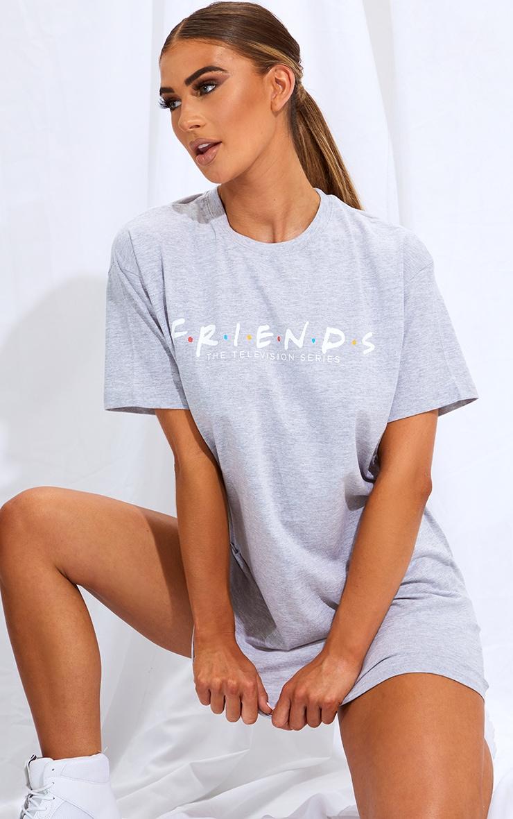 Grey F.R.I.E.N.D.S Slogan T Shirt Dress 1