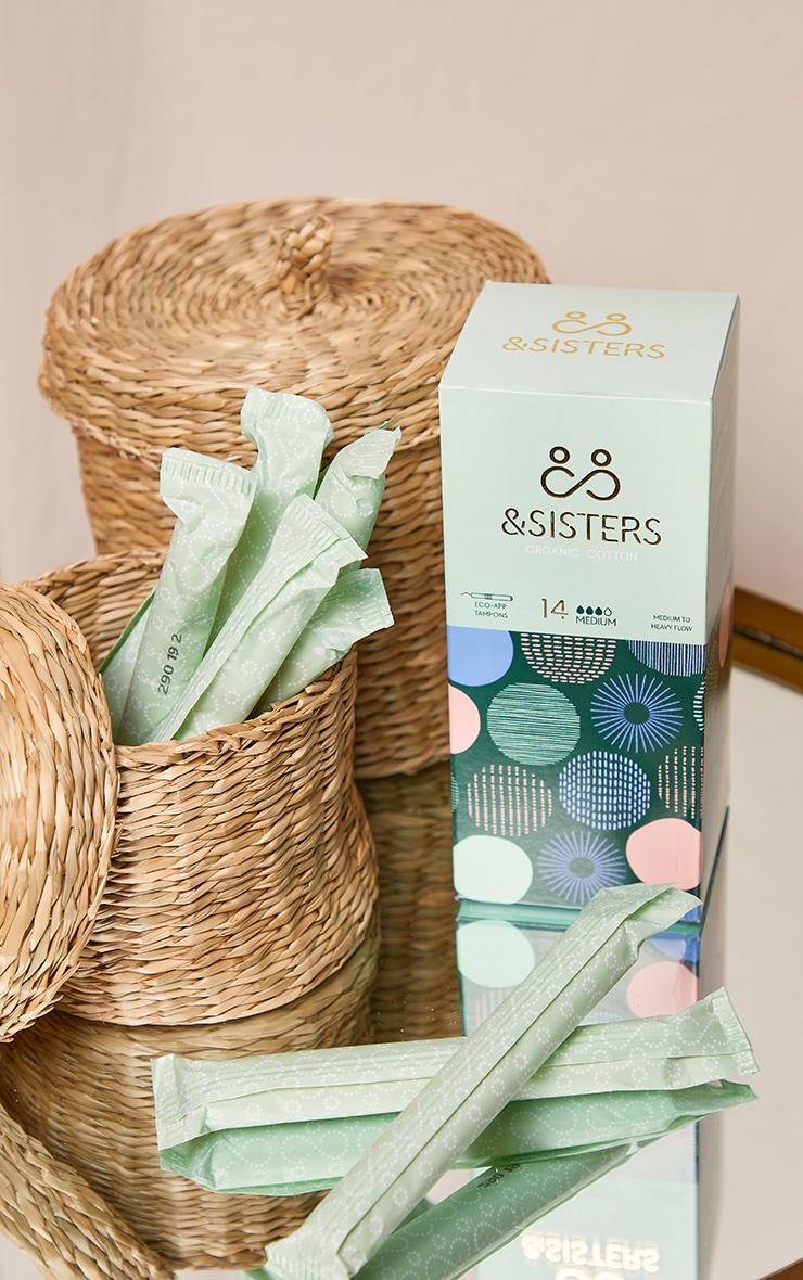 &Sisters - Boîte de 14 tampons Eco-Applicateur pour flux moyens 3
