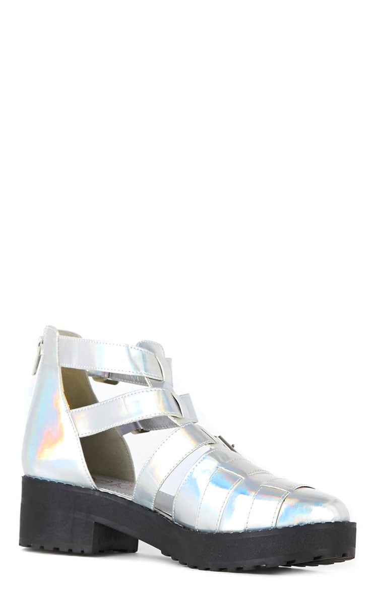 Amber Silver Holographic Sandals 2