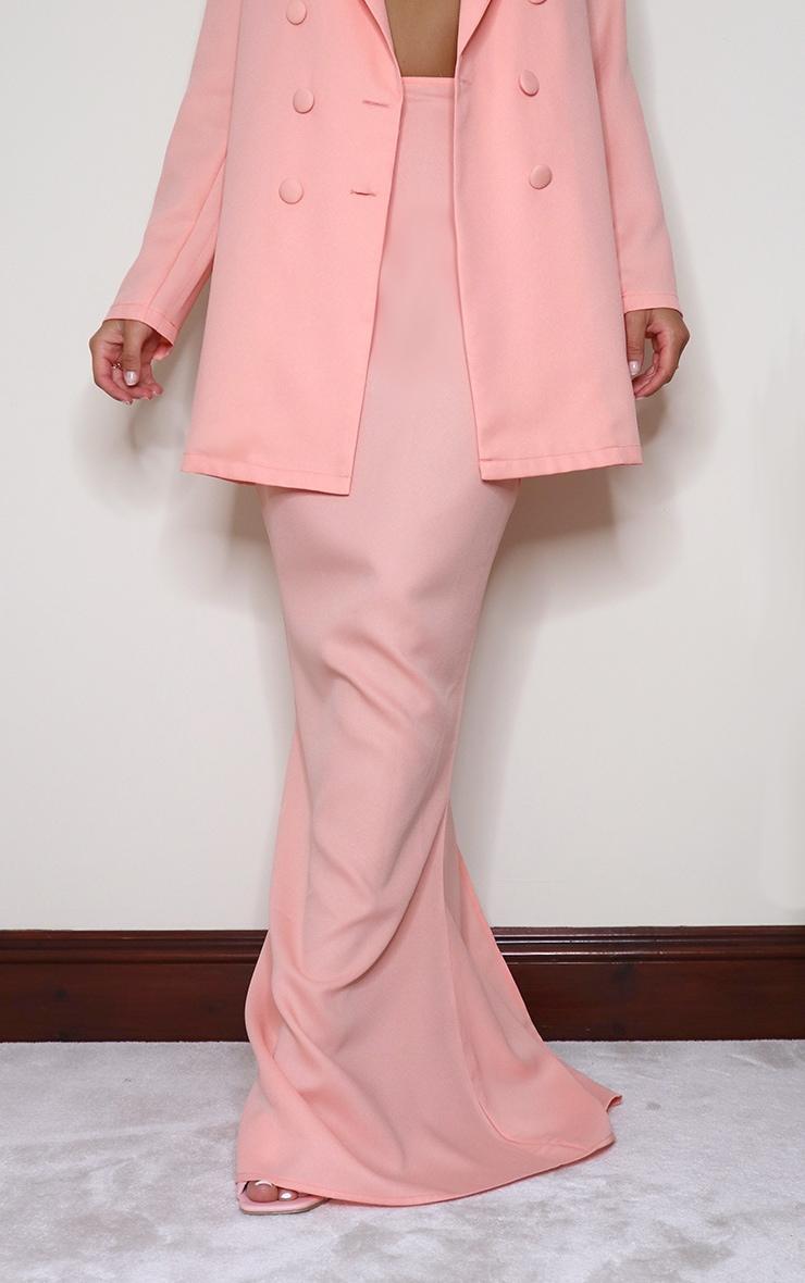 Peach Woven Maxi Skirt 2
