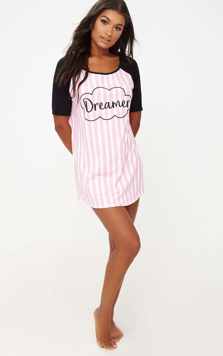 Pink Dreamer Striped Nightie 4