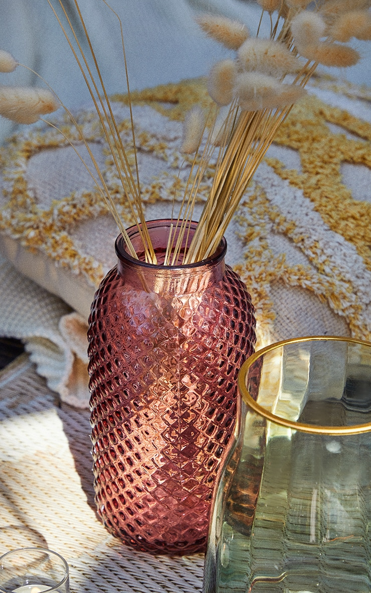 Pink Diamond Textured Tube Vase 1