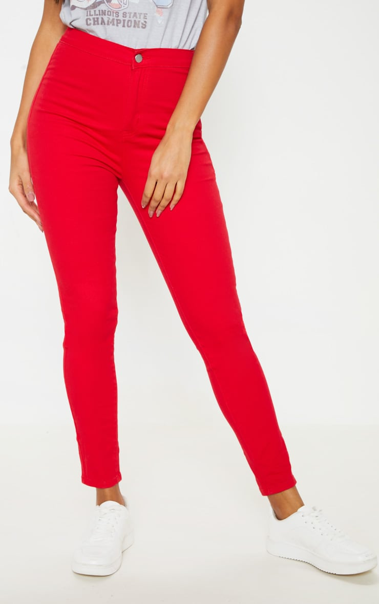 Red Disco Skinny Jeans 2