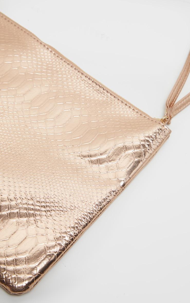 Rose Gold Metallic Clutch Bag 3