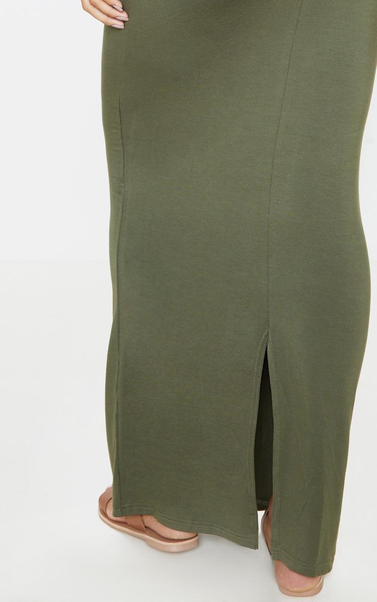 Khaki Bandeau Maxi Dress 5