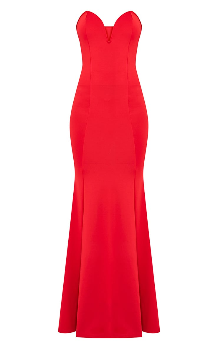 Wendie Red Sweetheart Fishtail Maxi Dress 3