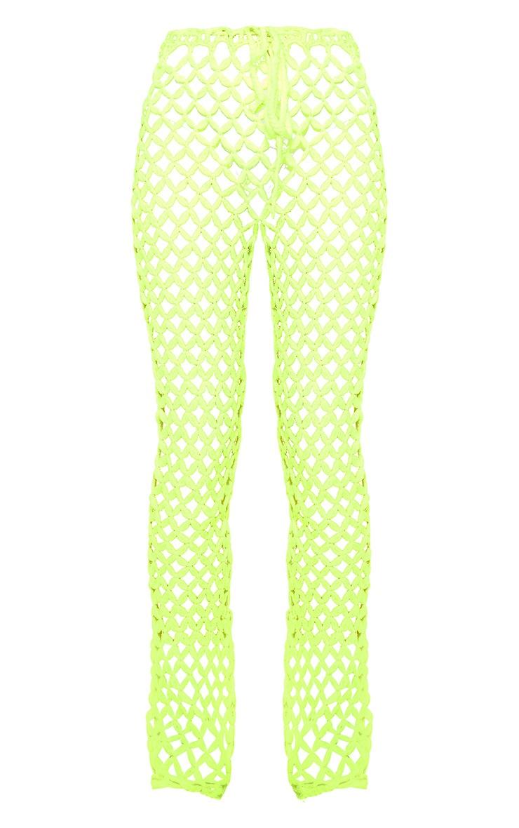 Lime Crochet Flares 6