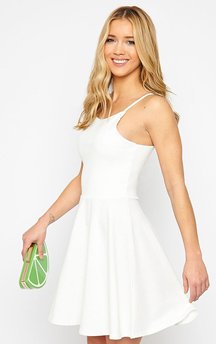 London Cream Skater Dress 1