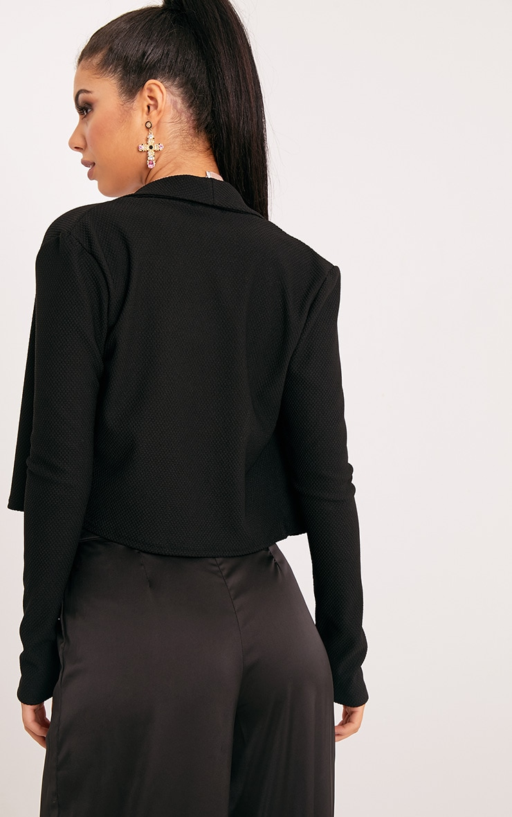 Irie Black Cropped Textured Blazer 2