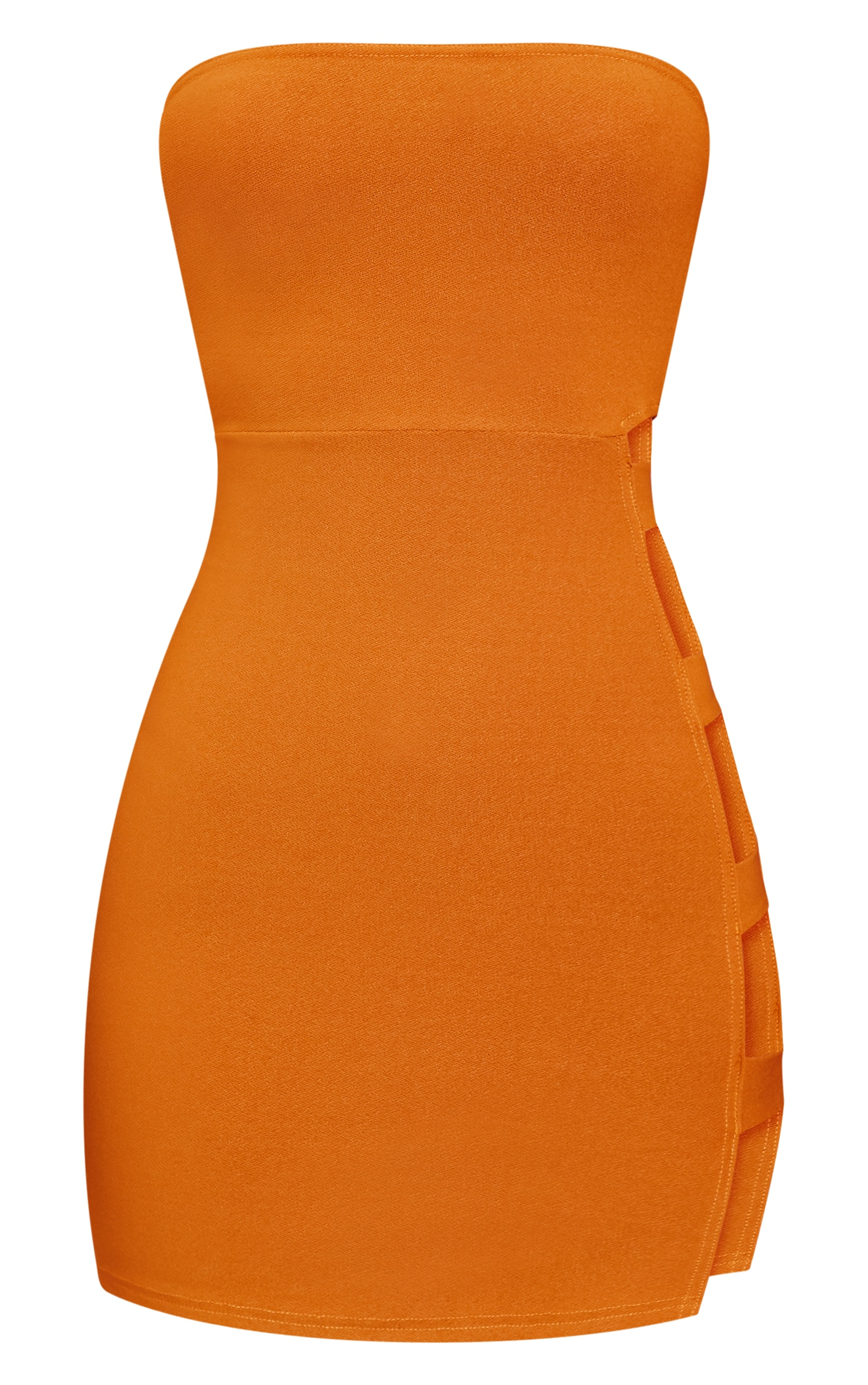 Mustard Split Side Bandeau Bodycon Dress 3