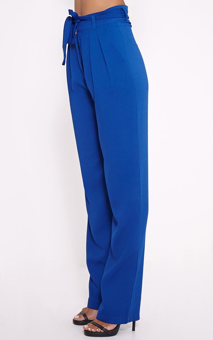 Elizabeth Cobalt Wide Leg Crepe Trousers 3