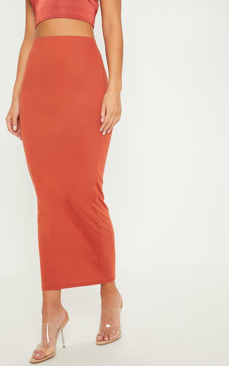 Brick Jersey Midaxi Skirt 2