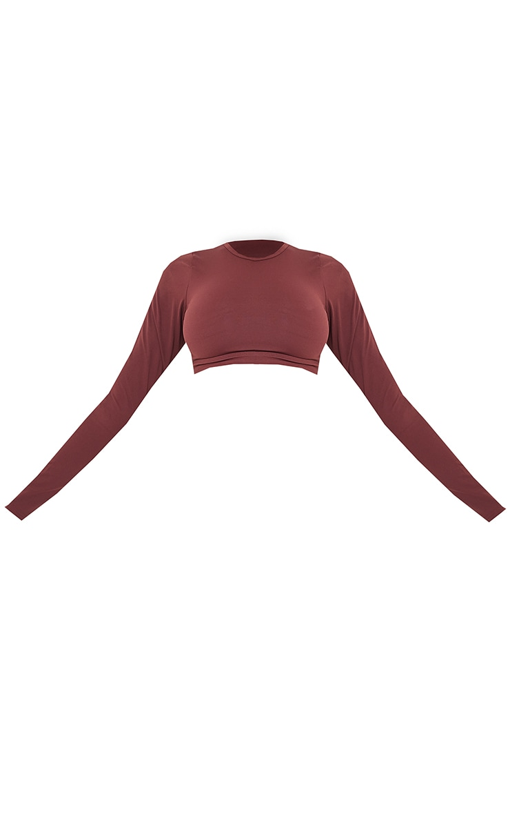Chocolate Sculpt Luxe Long Sleeve Sports Top 5