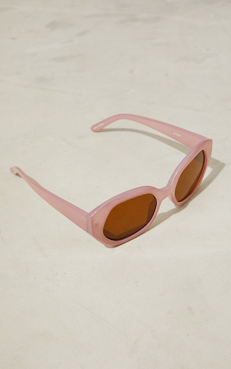 Jeepers Peepers Taupe Square Cat Eye Sunglasses 2