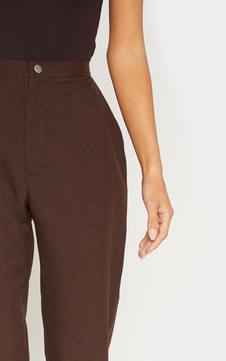 Chocolate High Waisted Slim Leg Pants 6