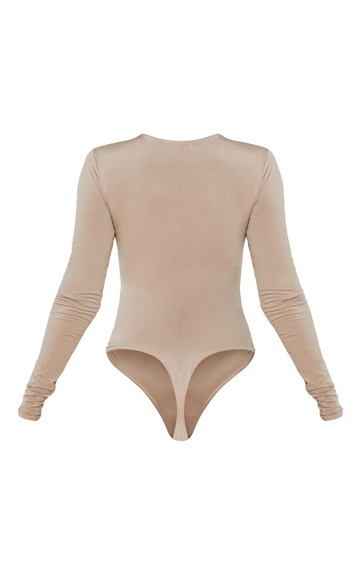 Stone Soft Touch Round Neck Long Sleeve Bodysuit 6