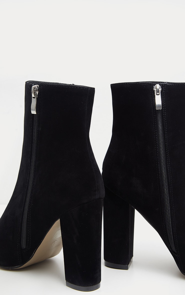 Behati bottines noires imitation daim 4
