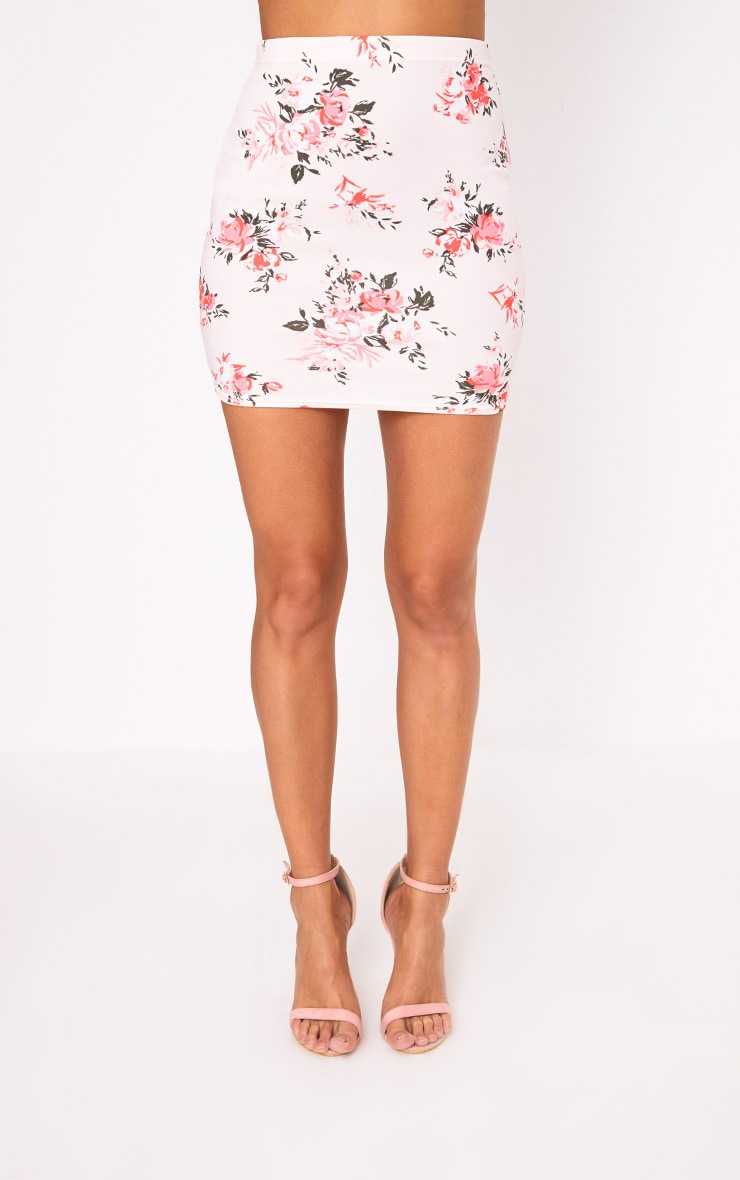Pink Floral Mini Skirt 2