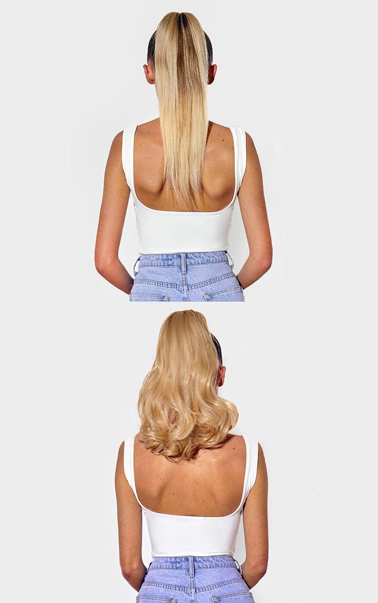 Lullabellz Mini Grande 18 90s Curl Wraparound Pony Golden Blonde 4