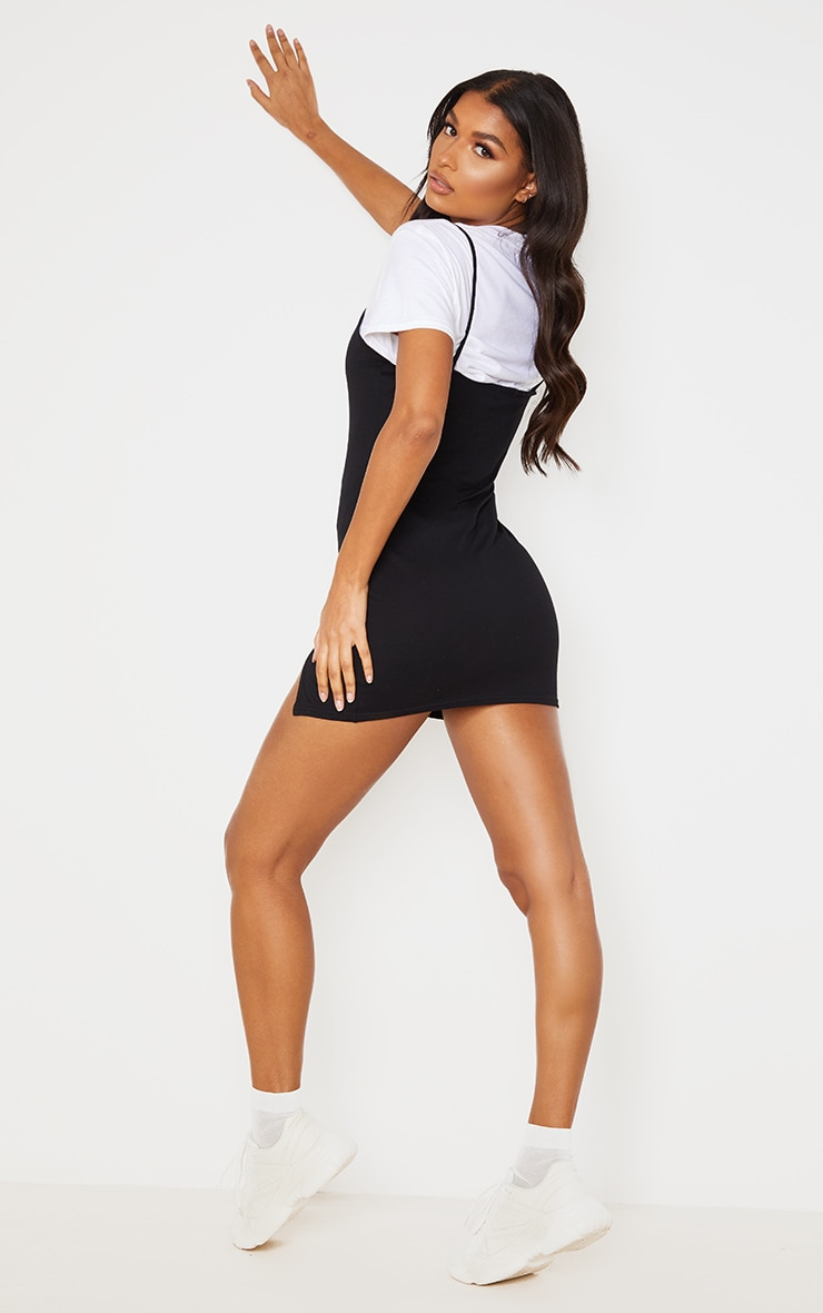 Black 90s Neck Split Bodycon Dress 3