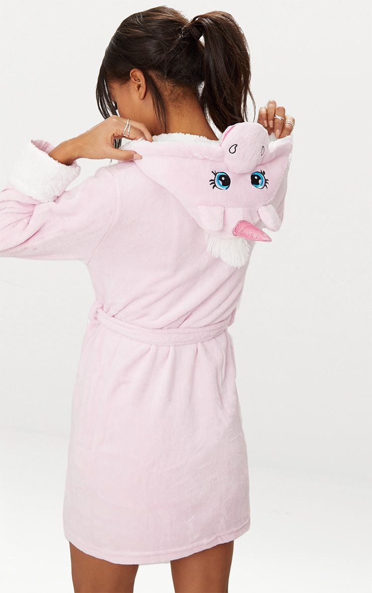 Pink Unicorn Dressing Gown 1