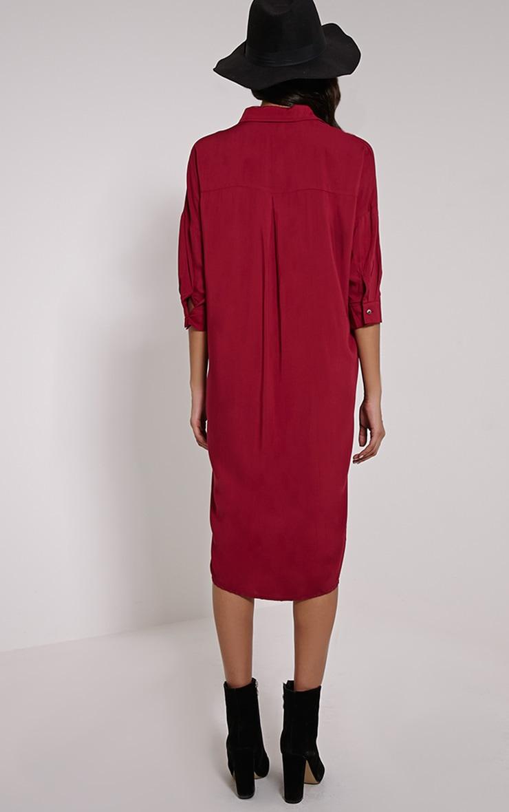 Perrin Berry Longline Shirt Dress 2