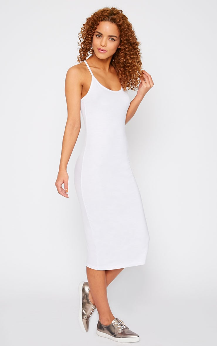 Basic White Midi Dress 1