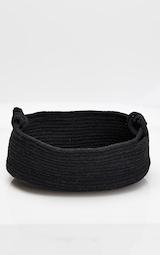 Black Large Cotton Rope Storage Basket 3