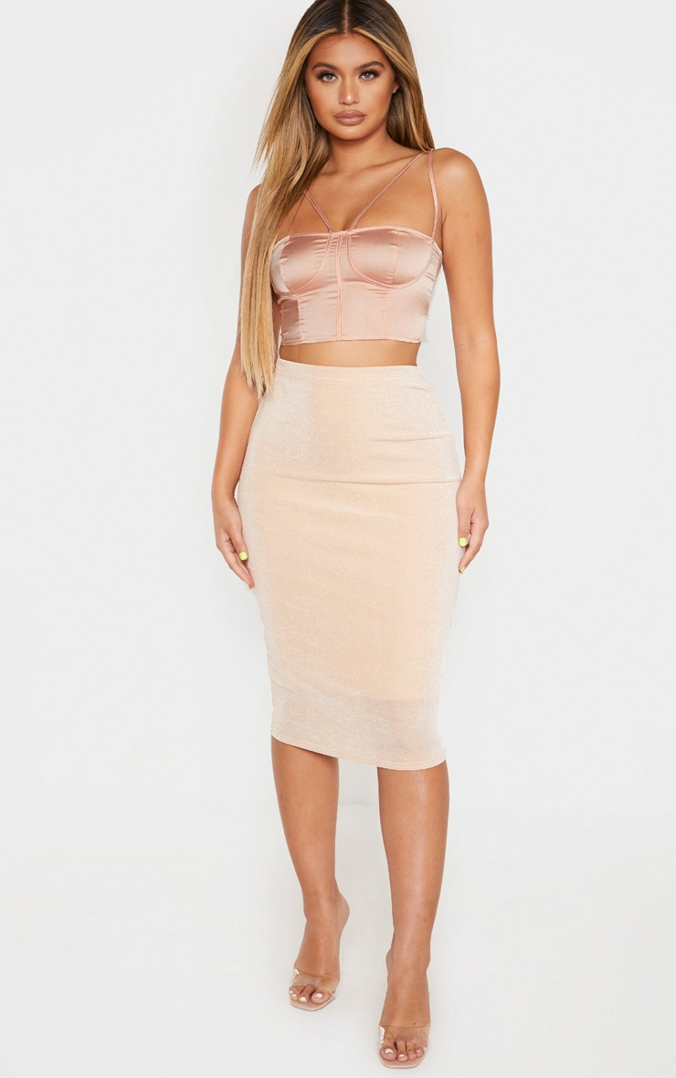 Blush Satin Double Strap Bralet  4