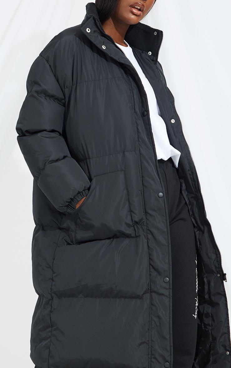 Tall Black Maxi Puffer Coat 4