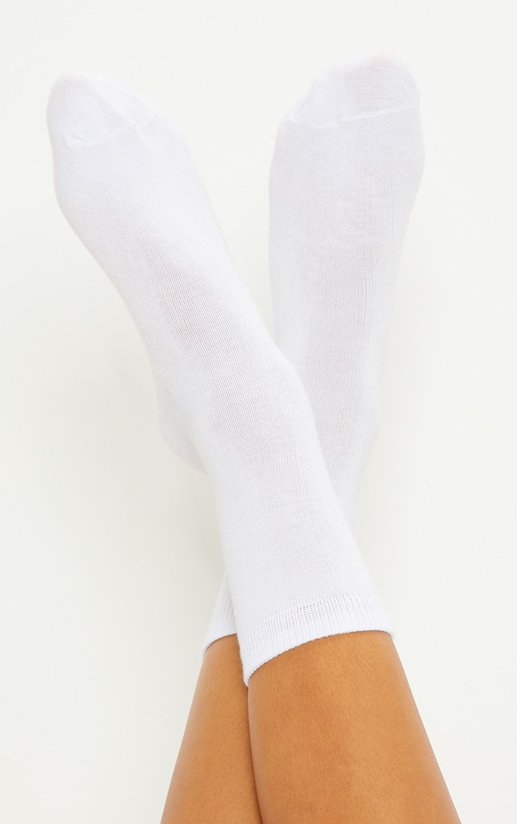 White Plain Socks 3 Pack 1