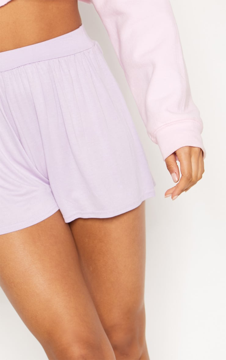 Lilac Jersey Floaty Short 6