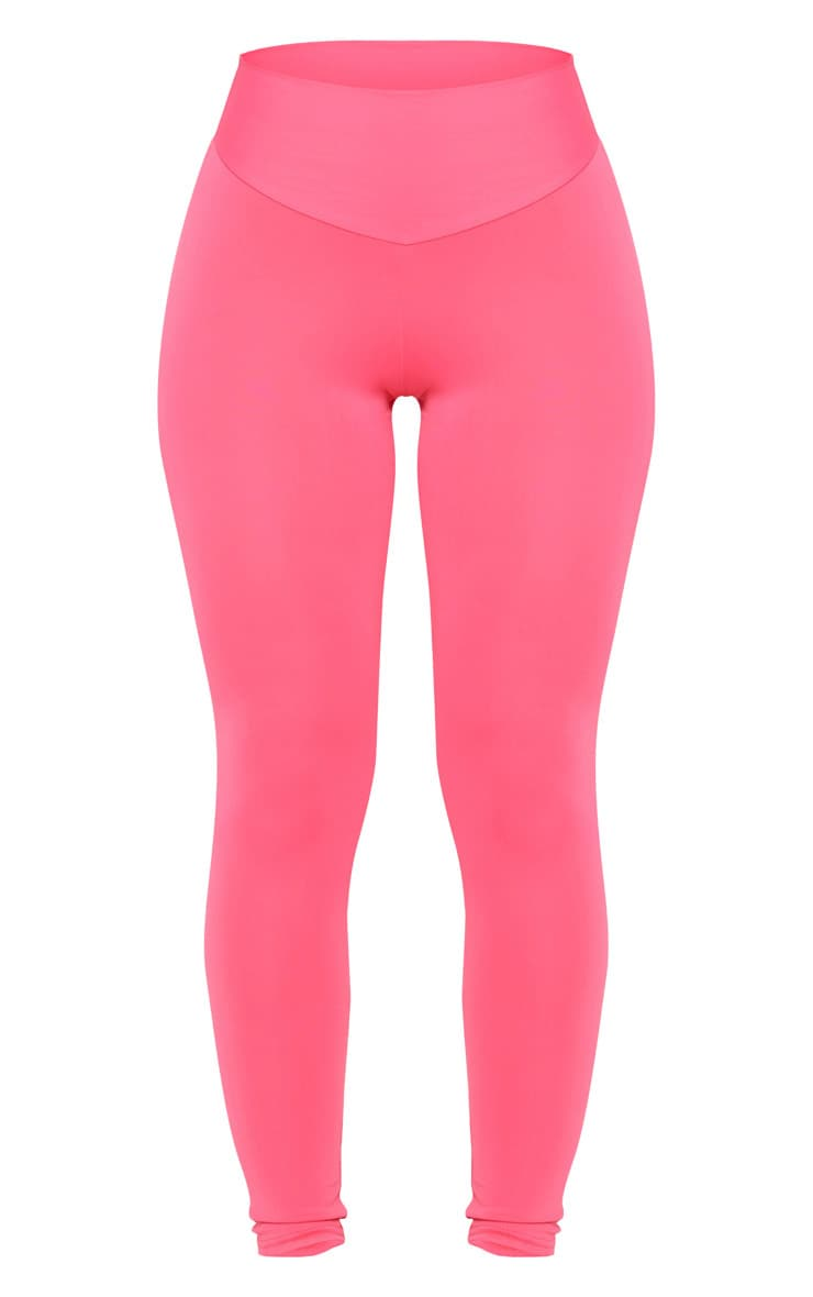 PRETTYLITTLETHING Hot Pink Sport High Waisted Gym Leggings 5