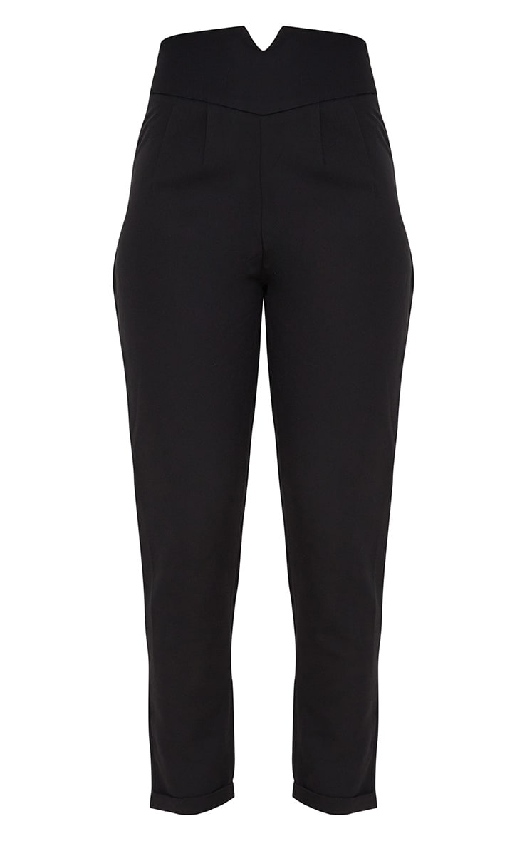 Elenor Black High Waisted Tapered Trousers 3
